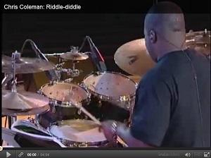 Chris Coleman Riddle Diddle dobszóló dobkotta doboktatás